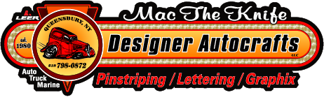 Mac The Knife Designer Autocrafts: Pinstriping, Lettering, and Graphix